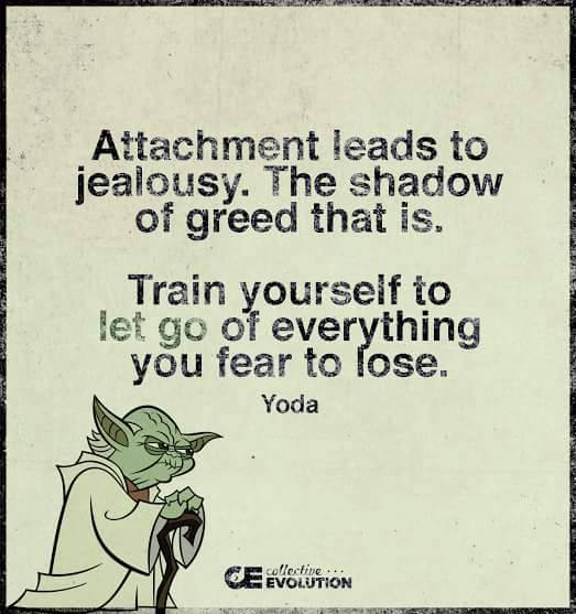 142 Yoda Quotes You Re Going To Love: Attachment Leads To Jealousy